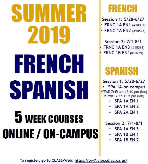 Summer French and Spanish courses