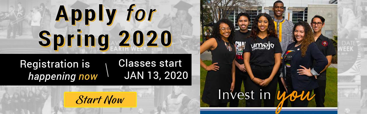 Apply and Register for Spring 2020
