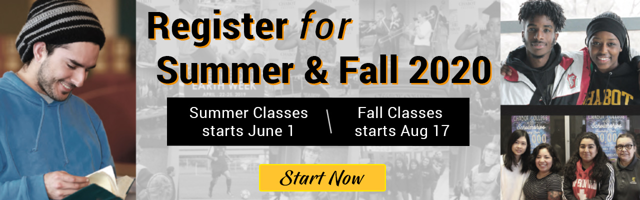 Apply and Register for Summer and Fall 2020