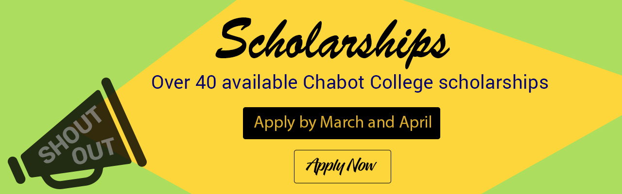 Chabot College is awarding over $90,000 worth of scholarships. Click to learn more.