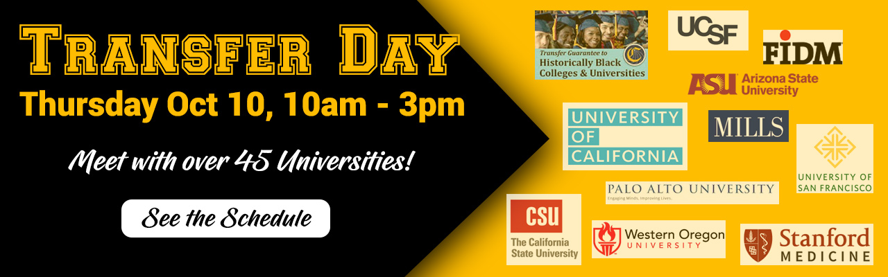 Transfer day 2019. Come and meet with over 45 universities. Click to see the schedule.