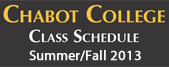 Summer/Fall 2013 Class Schedule