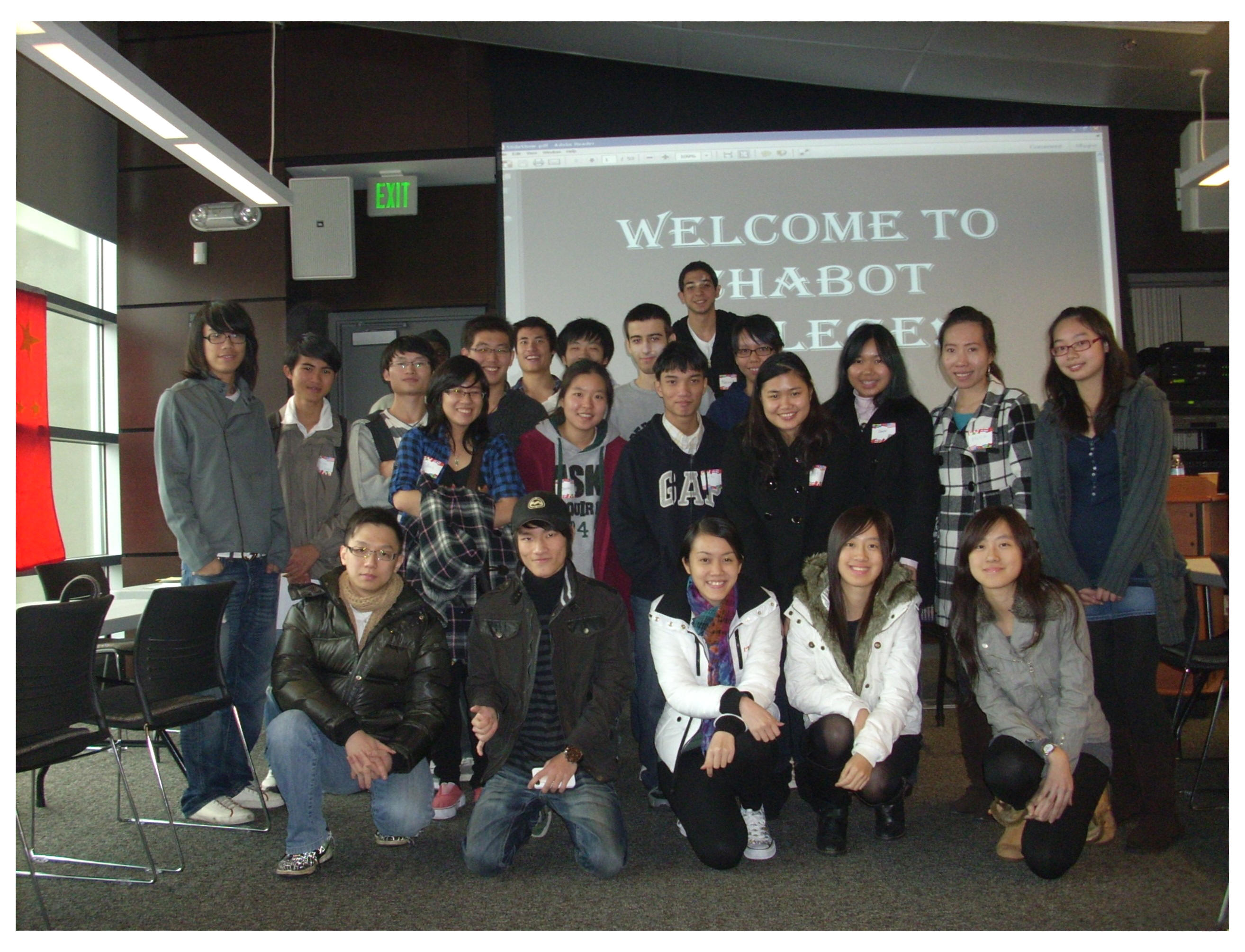 Group picture of Chabot College international students