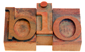 "Word ""Bio"" in Wood Blocks"