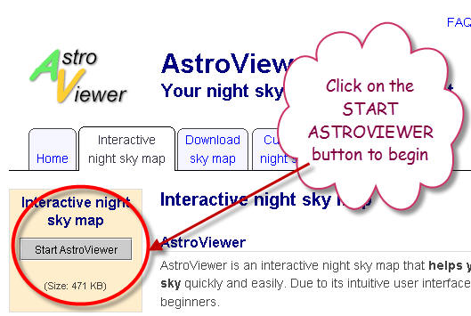 How To Use The Online AstroViewe - Interactive sky map